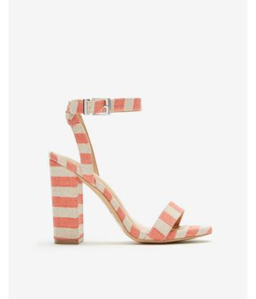 Express Womens Stripe Thick Heel