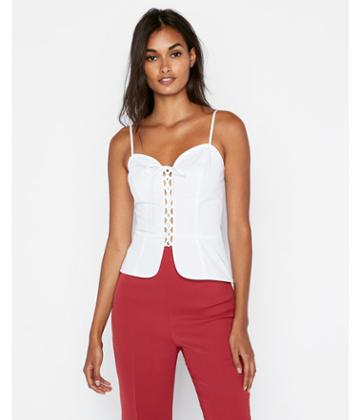 Express Womens Lace-up Corset Cami