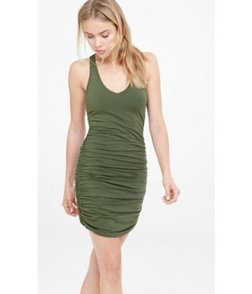 Express Women's Tanks Ruched Racerback Tank Dress