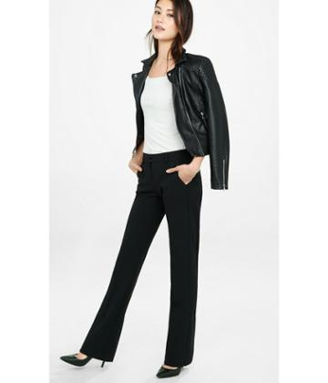 Express Women's Dress Pants Notch Back Slim Flare Editor Pant