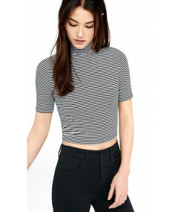 Express Women's Tees Striped Express One Eleven Cropped T-shirt