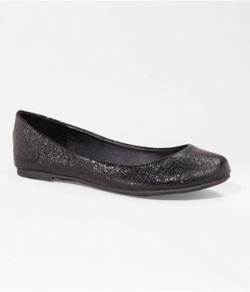 Express Womens Crinkle Round Toe Ballet