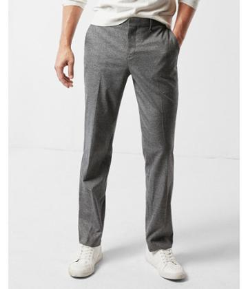 Express Mens Slim Photographer Gray Microweave Dress Pant