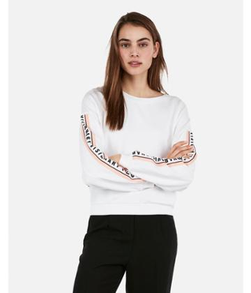 Express Womens Express Womens Express One Eleven Visionary Cropped Graphic