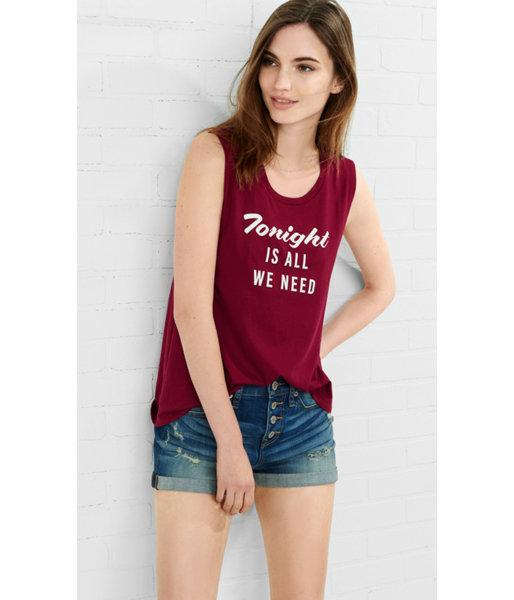 Express Women's Tanks Express One Eleven Tonight Graphic Tank