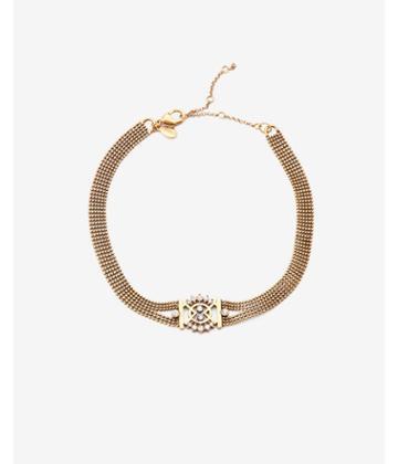 Express Rhinestone Ball Bead Choker Necklace