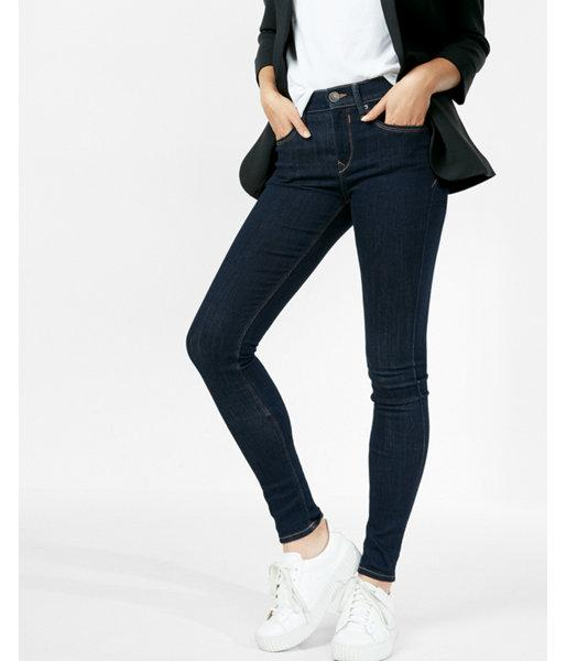 Express Mid Rise Stretch Jean