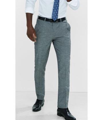 Express Men's Dress Pants Slim Photographer Gray Slub Dress Pant