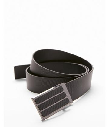 Express Mens Three Stripe Plaque Belt