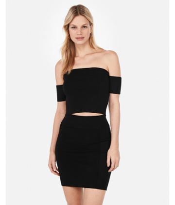 Express Womens Off The Shoulder Cropped Tube