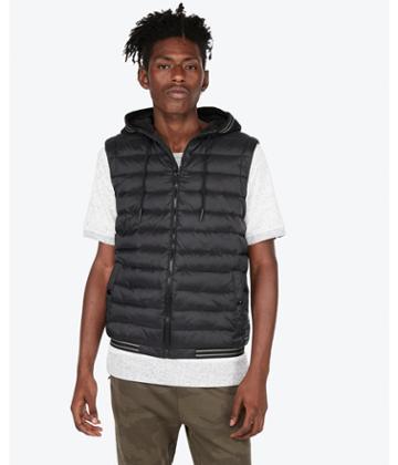 Express Mens Hooded Puffer Vest
