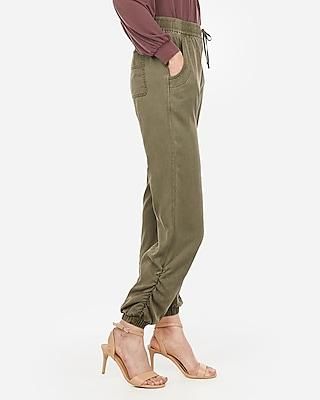 Express Womens Ruched Ankle Drawstring Joggers