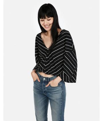 Express Womens Express One Eleven Striped Flare