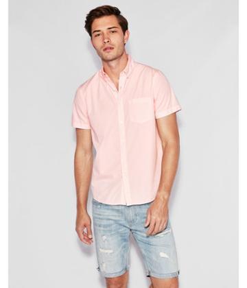 Express Mens Classic Garment Dyed Button-down Short
