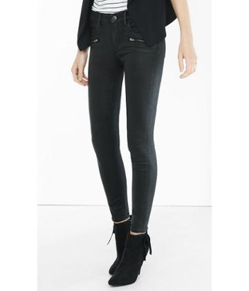 Express Express Women's Jeans Coated Black Jean