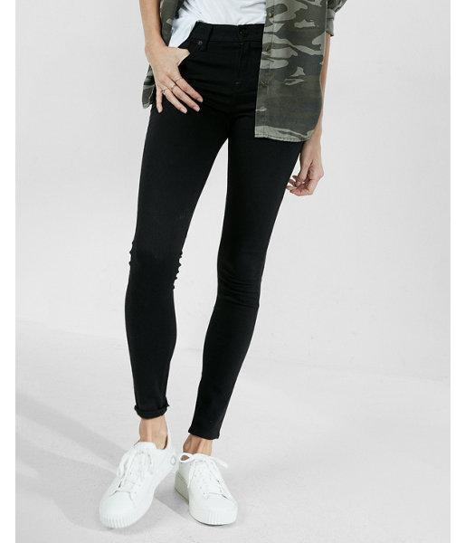 Express Petite Mid Rise Black Jean