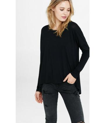 Express Women's Tees Black Express One Eleven