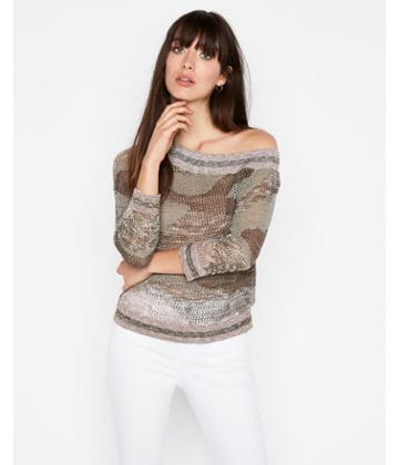 Express Womens Asymmetrical Off The Shoulder Pullover