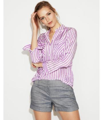 Express Womens Striped City Shirt By Express