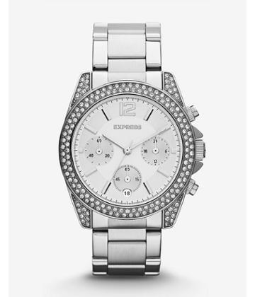 Express Mens Glendale Pave Embellished Chronograph Watch