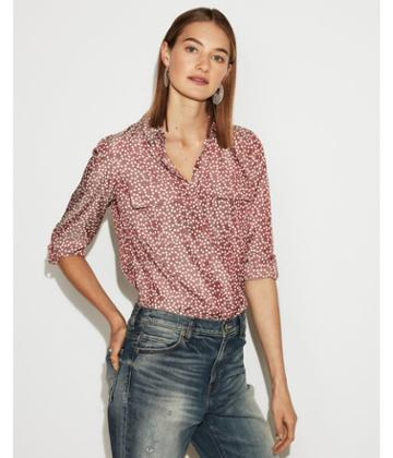 Express Womens Spots City Shirt By Express