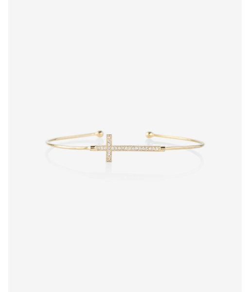 Express Pave Cross Thin Bangle
