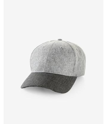 Express Color Blocked Denim Baseball Hat