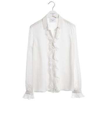 Express Womens Express Edition Ruffle Blouse