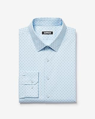 Express Mens Slim Dot Print 365 Comfort Stretch+ Dress