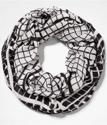 Express Womens Grid Pattern Infinity Scarf
