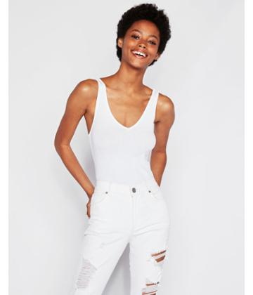 Express Womens Express One Eleven Ribbed V-neck Tank
