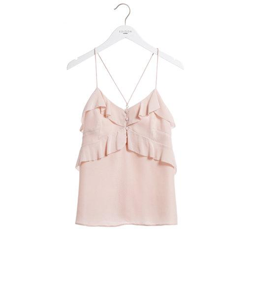 Express Womens Express Edition Ruffle Button Cami