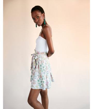 Express Womens Floral Sash Tie Waist