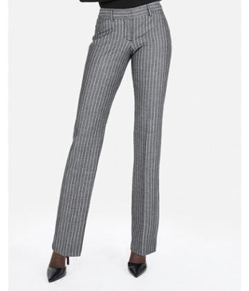 Express Womens Low Rise Barely Boot Ticking Stripe Editor Pant