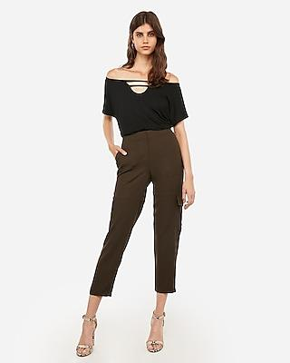 Express Womens Express Womens Express One Eleven Off The Shoulder Keyhole Cut-out