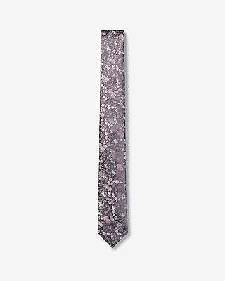 Express Mens Slim Woven Floral Tie