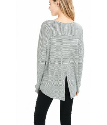 Express Women's Tees Express One Eleven Striped