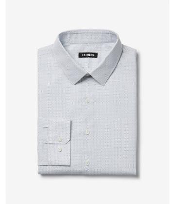 Express Mens Slim Circle Print Dress