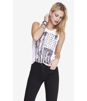 Express Women's Tanks Scoop Neck Graphic Tank -