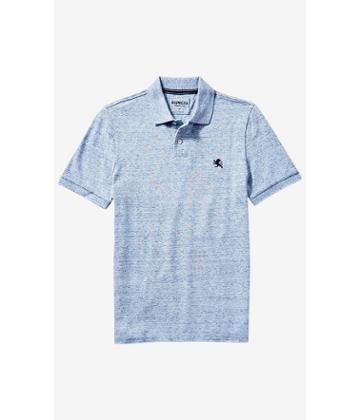 Express Men's Polos Nep Knit Small Lion Pique Polo