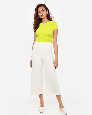 Express Womens Express One Eleven Ruched Tee