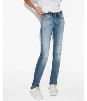 Express Womens Mid Rise Ripped Stretch+ Performance