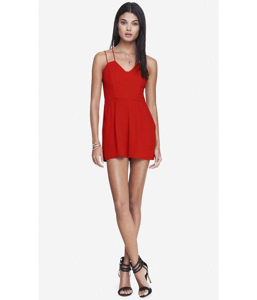 Express Express Womens Strappy Sweetheart Romper - Red