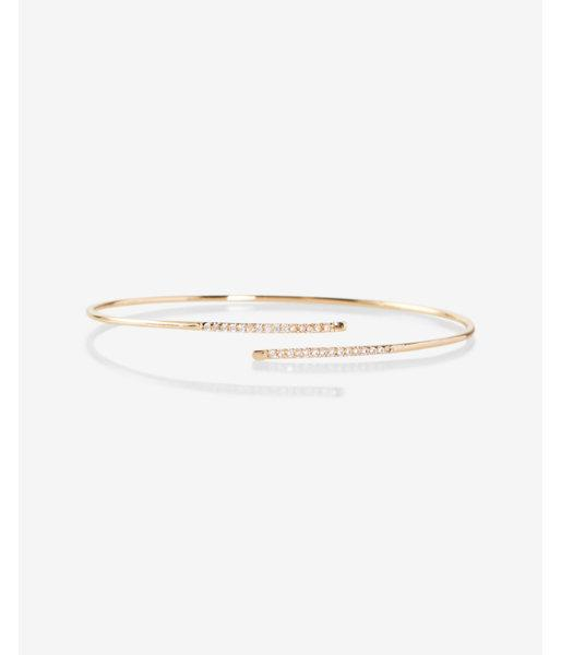 Express Thin Pave Open Crossover Bangle Bracelet