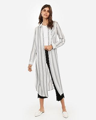 Express Womens Multi-striped Duster
