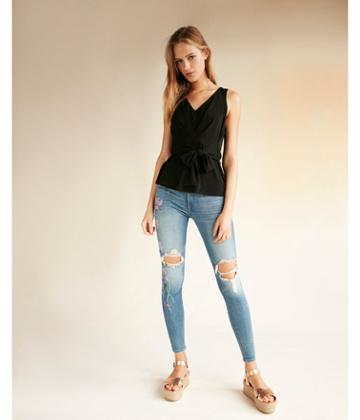 Express Womens Tie Front Tank