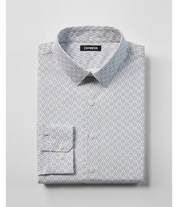 Express Mens Extra Slim Fit Geo Print Dress
