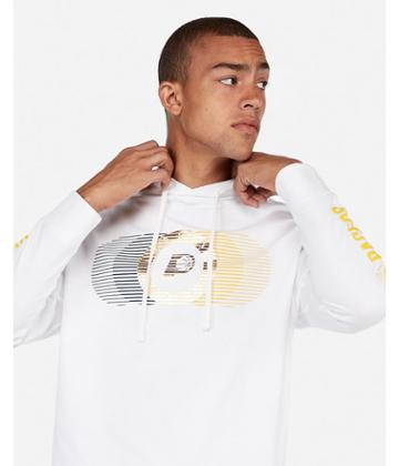 Express Mens Indiana Pacers Nba Heavy Weight Foil Graphic Hooded Tee