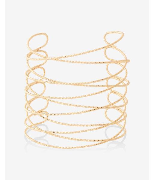 Express Womens Textured Crisscross Cuff