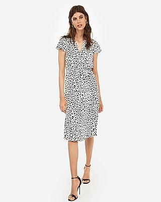 Express Womens Leopard Tie Neck